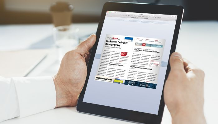 immoflash has been the daily companion of all property professionals for 10 years now. On PC, tablet or smartphone, the free online daily newspaper gives 9000 readers all key industry news at a glance, daily from Monday to Thursday. This makes immoflash the key source of information for anyone and everyone who needs to know what's happened, is happening or is about to happen. <br><br>